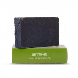 Organic, Vegan Handmade Birch Tar Bar Soap 75g.