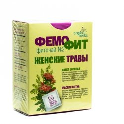 Herbal Tea Women's Herbs Femofit No.2, 20 teabags x 1.5g
