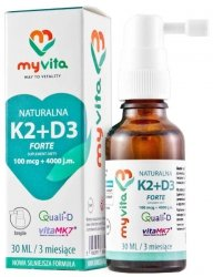 Natural Vitamin K2 MK7 + D3 Drops, 20 ml MyVita