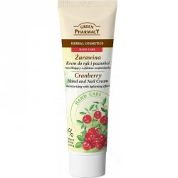 Cranberry Moisturizing Hand and Nail Cream with lightening effect, Green Pharmacy