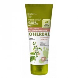 Foot cream for dry and cracked heels with althaea extract, O'Herbal