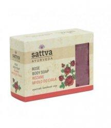 Rose Natural Glycerine Soap, Sattva, 125g