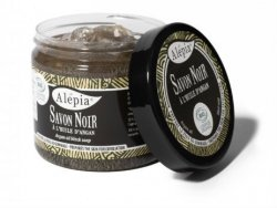Savon Noir Black Soap with Argan Oil, Alepia, 200g