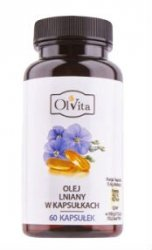 Linseed Oil, Olvita, 60 capsules