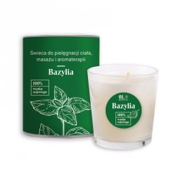 Candle for Body Care, Massage and Aromatherapy, Basil Element