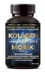 Kolagen Morski + Hialuron + Witamina C, Intenson, 90 tabletek