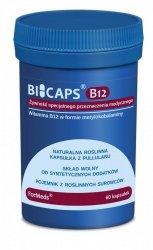 BICAPS B12 Metylokobalamina 1000 µg, ForMeds, 60 kapsułek