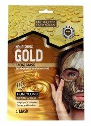 Złota Maseczka Odżywcza w Płachcie o Strukturze Plastra Miodu, Beauty Formulas Gold Facial Mask