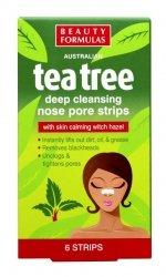 Głęboko Oczyszczające Paski na Nos Tea Tree, Beauty Formulas