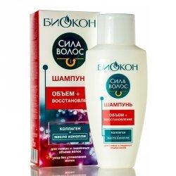 Szampon z Kolagenem i Olejem Konopnym - Objętość i Odbudowa, Biokon