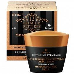 Peptydowy Krem-Prestige do Twarzy o Zwiększonym Efekcie Liftingu, Premium Peptides