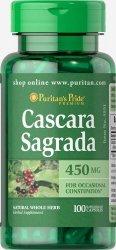 Cascara Sagrada 450mg, 100 kapsułek Zaparcia | Wątroba