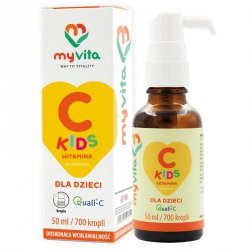 Witamina C Kids, Quali-C, Krople, MyVita, 50ml