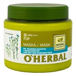 Maska do Włosów Suchych i Zniszczonych z Ekstraktem z Lnu, O'Herbal