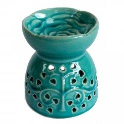 Kominek Zapachowy Ceramiczny Niebieski Drzewo Życia