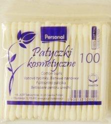 Patyczki Kosmetyczne Personal Care, Zapas, 100 sztuk