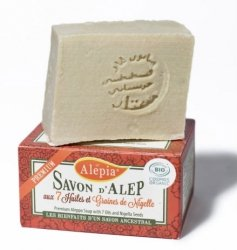 Mydło Aleppo Premium z 7 Olejami z Dodatkiem Ziaren Czarnuszki, 125 g