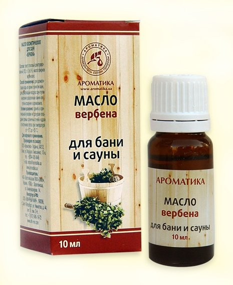 Bath and Sauna Oil Verbena, 10ml Aromatika