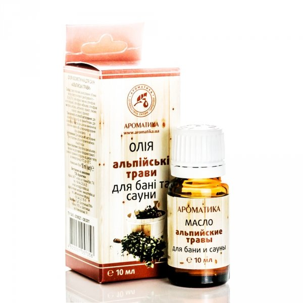 Bath and Sauna Oil Alpine Herbs, 10 ml