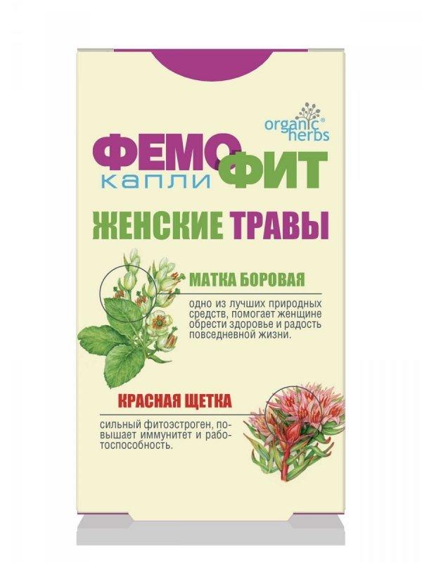 Herbal Drops Organic Herbs Femofit, 50ml