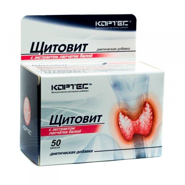 Shitovit (Pięciornik biały, Gwiazdnica, L-tyrozyna, Algi brunatne), 50 kaps.