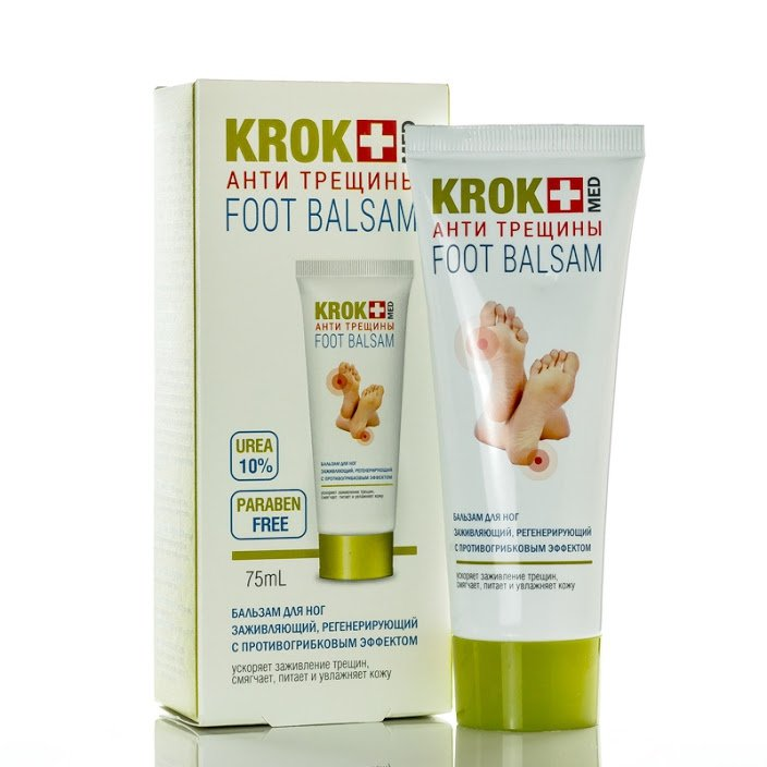 Foot Balm KROK MED for Cracked Heels, 75 ml