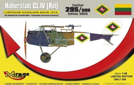 Mirage 480004 1/48 Halberstadt CL.IV (Rol) LIETUVOS AVIACIJOS DALIS 1919Litewskiej Formacji Lotniczej (Seria Limitowana)
