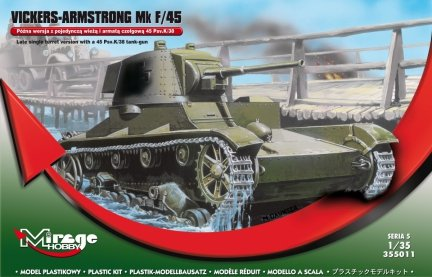 Mirage 355011 1/35 VICKERS-ARMSTRONG Mk F/45 Późna wersja