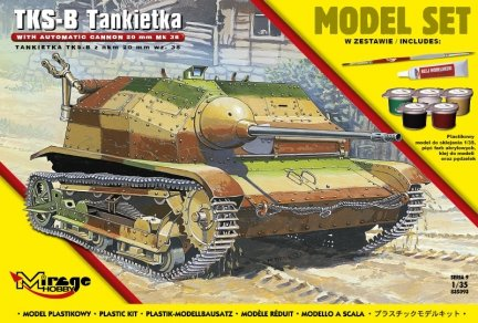 Mirage 835093 1/35 [MODEL SET]  TKS-B  Polska Tankietka – z NKM 20 mm wz. 38