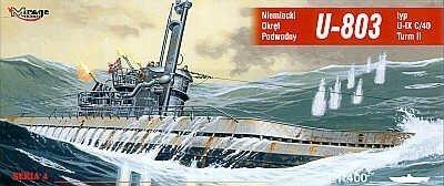 Mirage 40044 1/400 U-803 typ U-IX A Turm I niemiecki okręt podwodny