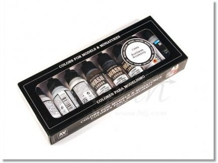 Vallejo 73999 | Accessory Set | 8 colors x 17 ml