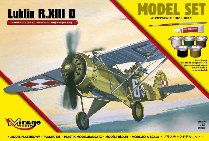 Mirage 848093 1/48 [MODEL SET] LUBLIN R.XIII D (Polski Samolot Towarzyszący)