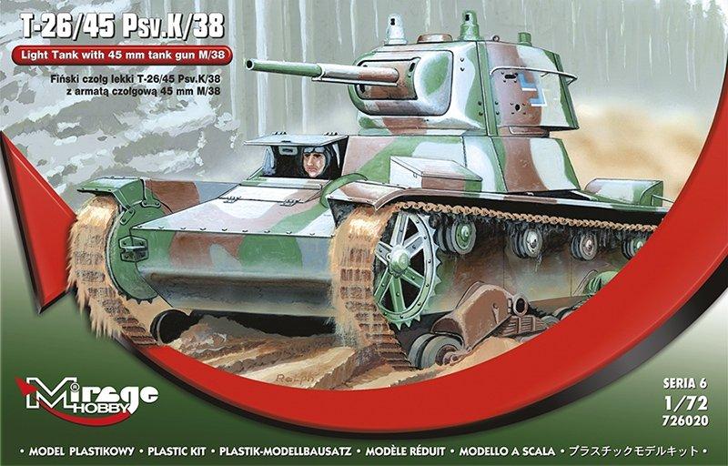 Mirage 726020 1/72 Fiński czołg lekki T-26/45 Psv.K/38 z armatą czołgową 45mm M/38