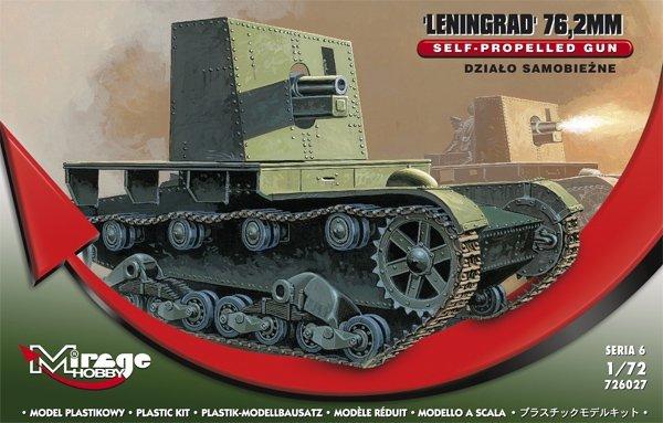 Mirage 726027 1/72 Działo Samobieżne Leningrad 76,2 mm