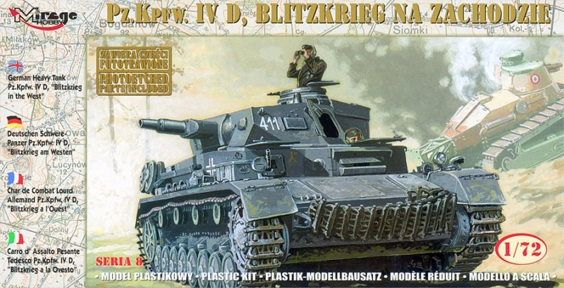 Mirage 72854 1/72 German Tank Pz.Kpfw. IV Ausf. D  'BLITZKRIEG in the WEST'