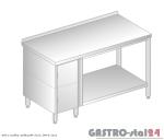 Stół z szafką i półką DM 3113 szerokość: 600 mm (1000x600x850)
