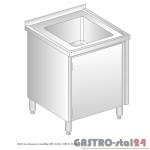 Stół ze zlewem i szafką DM 3210 szerokość: 600 mm (600x600x850)