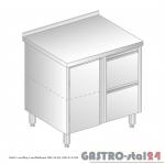 Stół z szafką i szufladami DM 3120 szerokość: 600 mm  (800x600x850)