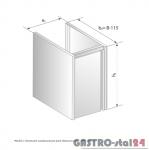 Moduł z drzwiami zawiasowymi pod zlewozmywak DM 3231.1 szerokość: 485 mm  (500x485x650)