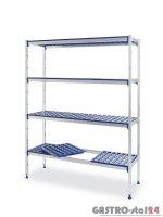 Regał magazynowy aluminiowy - 4 półkowy 1280x405x1685 mm