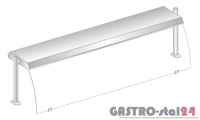 Nadstawka z oświetleniem diodowym i z grzaniem i oświetleniem halogenowo-kwarcowym DM 94580 DG-E 1234x460x470