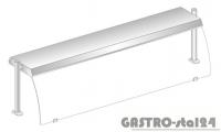 Nadstawka z oświetleniem diodowym i z grzaniem i oświetleniem halogenowo-kwarcowym DM 94580 DG-E 1573x460x470