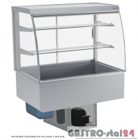 Witryna chłodnicza po łuku z roletą DM-94950.5R wym. 1745x714x1429mm