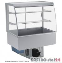 Witryna chłodnicza po łuku z roletą DM-94950.4R wym. 1420x614x1429mm