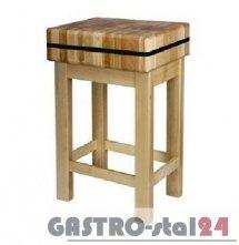 Kloc masarski drewniany na podstawie drewnianej 400x500x200