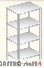 Regał (skręcany) półki pełne DM 3337 szerokość: 600 mm  (600x600x1800)