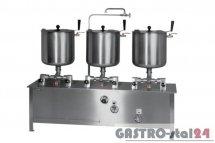 Zestaw kociołków przechylnych elektryczny (pojemność: 3x30l) ZE-6