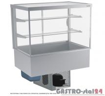 Witryna chłodnicza prosta z klapkami DM-94951.4K wym. 1420x614x1429mm