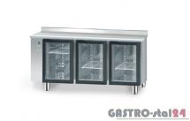 Stół chłodniczy z drzwiami przeszklonymi bez agregatu z płytą wierzchnią nierdzewną DM 90006 1625x700x850