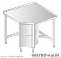Stół narożny z szafką DM 3110 szerokość: 600 mm (600x600x850)
